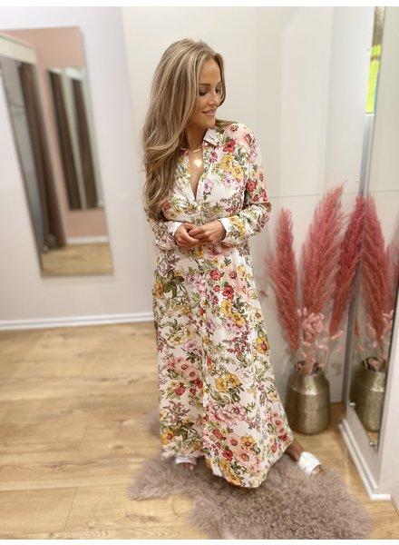 SL Illy Long Flowery Viscose Dress