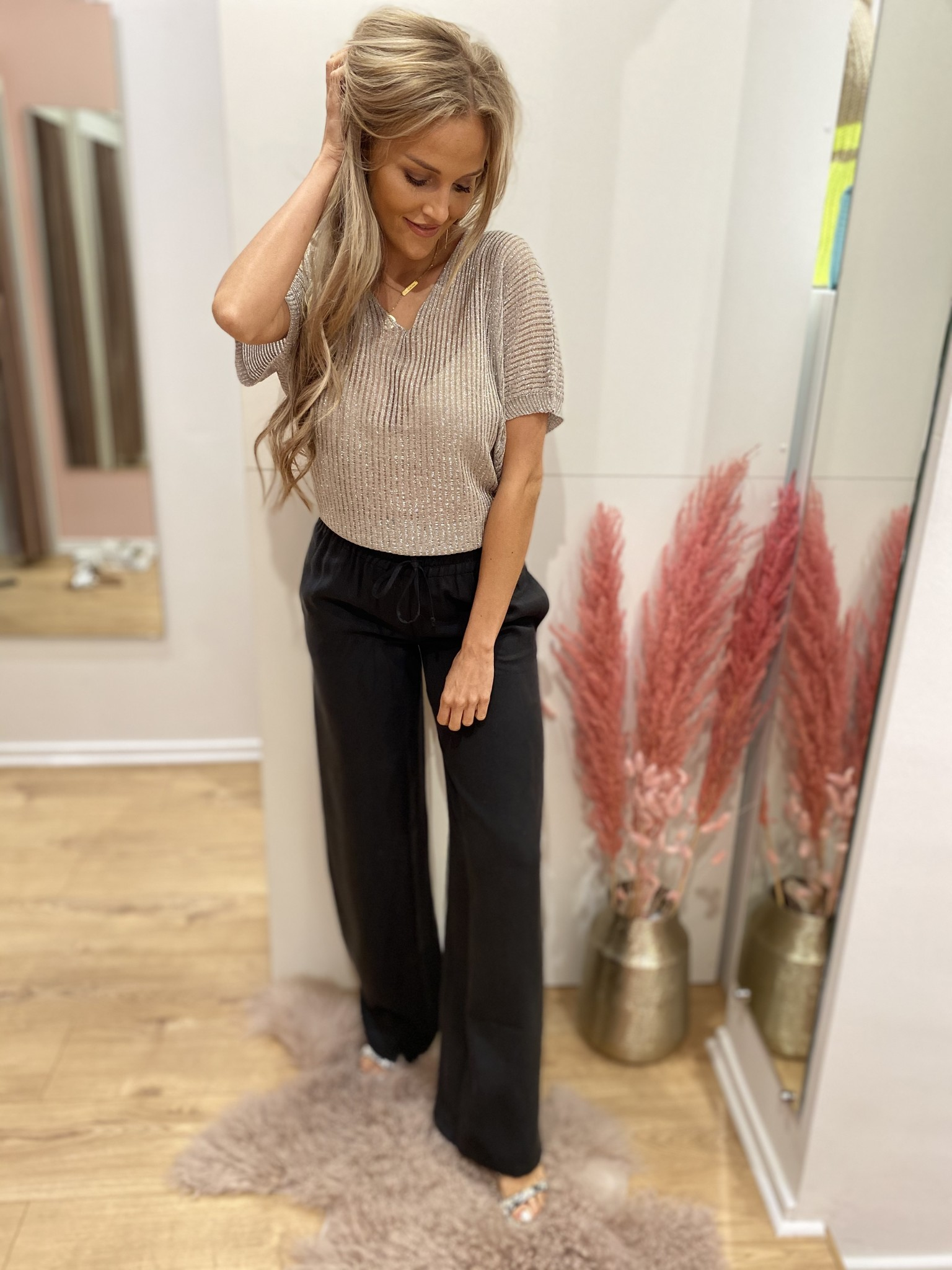 WS Avah Black Trousers