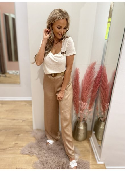 AA Milou Trousers Satin Soft Beige