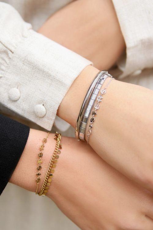 MJ Armbanden Setje Sisters Zilver