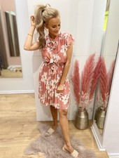 PF Yentl Dress Flowers Koraal