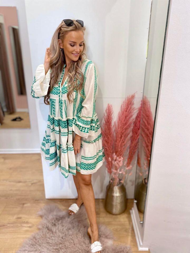 PC Elora Ibiza Dress Cotton Green