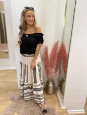 PC Elora Ibiza Skirt Cotton Black