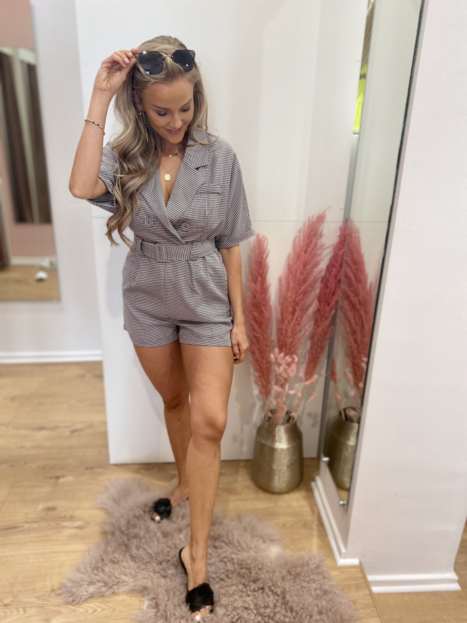 LM Jenna Playsuit Black White