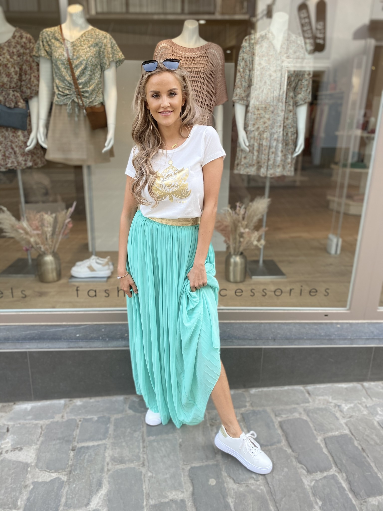 AT Skirt Mint Green Gold