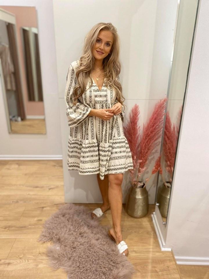 Maura Ibiza Dress Kakhi