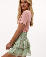 LO Flowers On Me Skirt Green