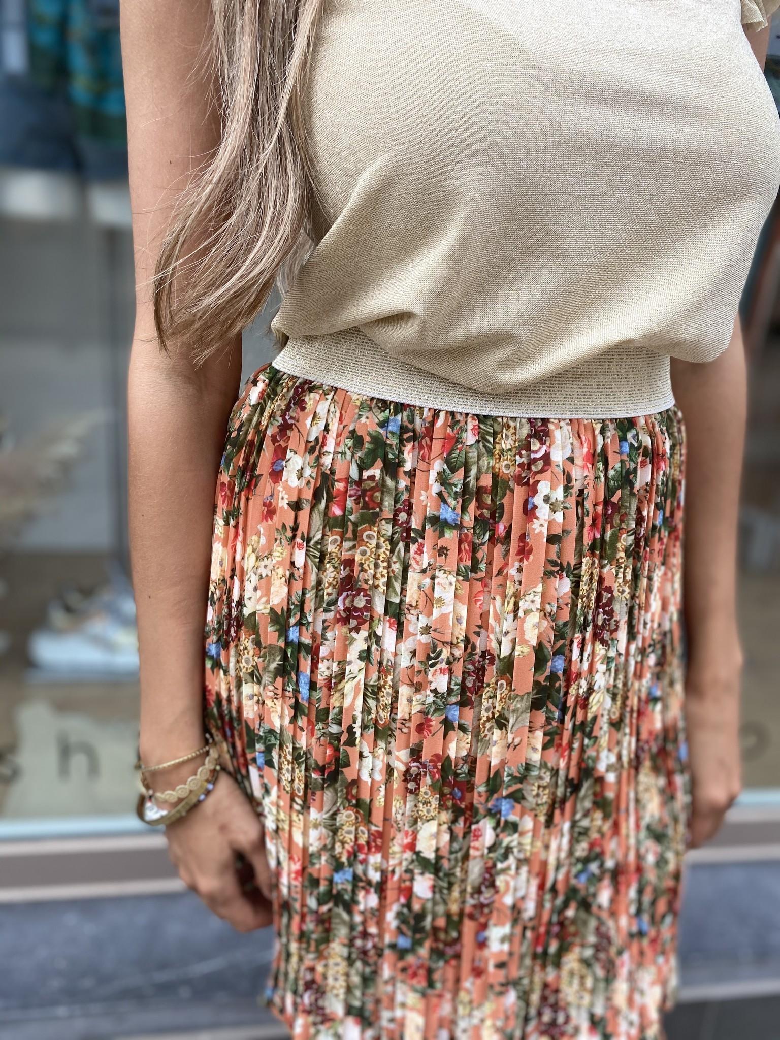 TS Little Plissé Skirt Orange
