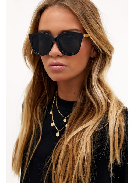 LO Black Cat Eye Sunglasses