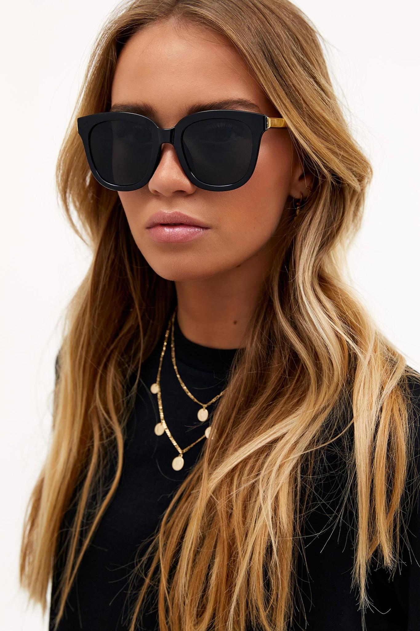 LO Black Cat Eye Sunglasses