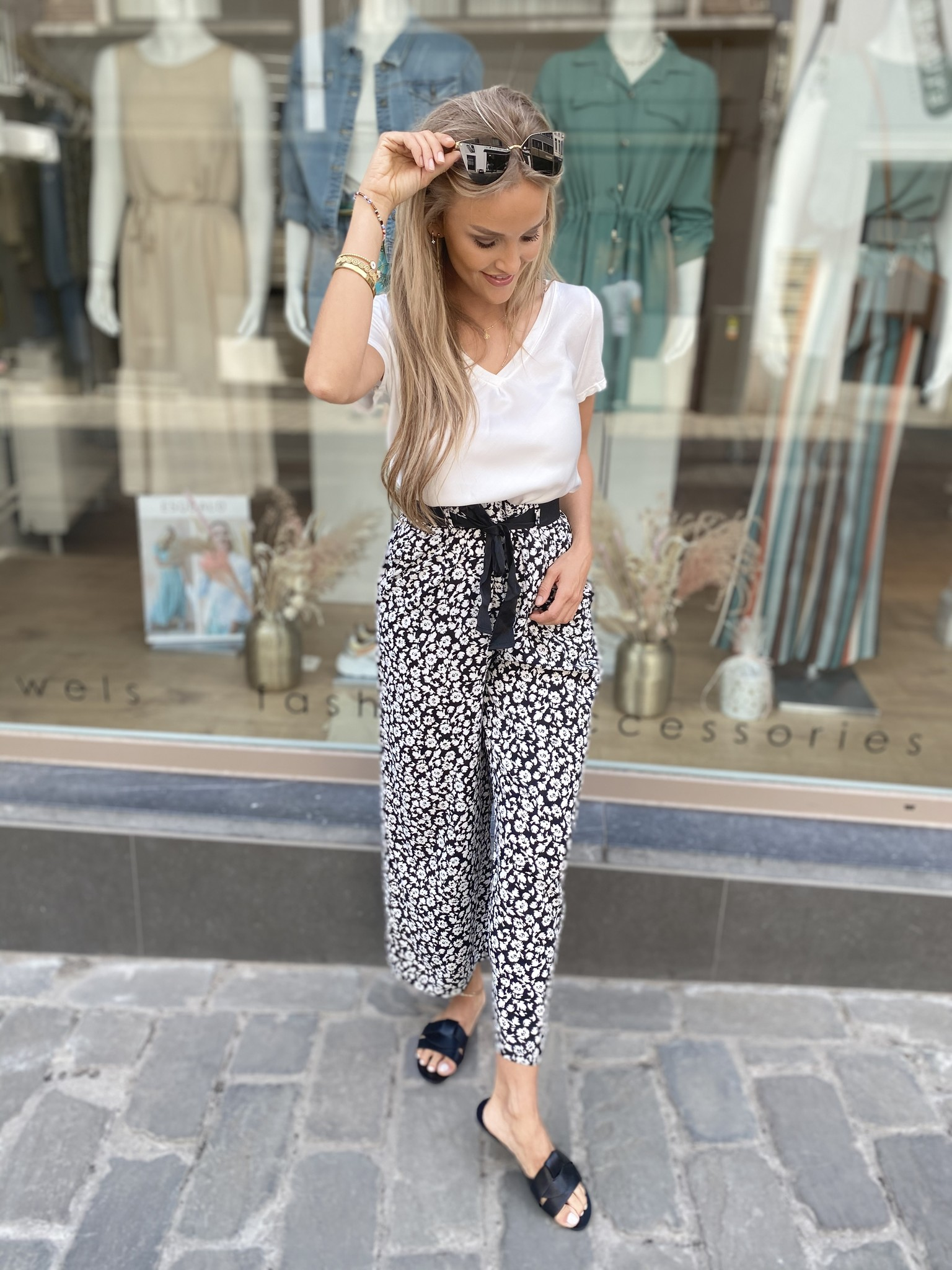 BR Flowery Wide Trousers
