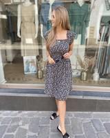 BR Flowery Dress Black/White