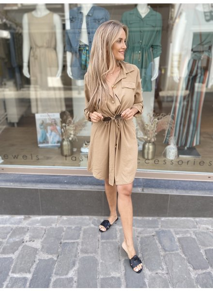 ES Belle Chemisier Dress Camel