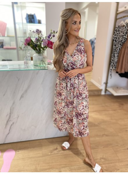 TS Livia Dress Flowers Nude