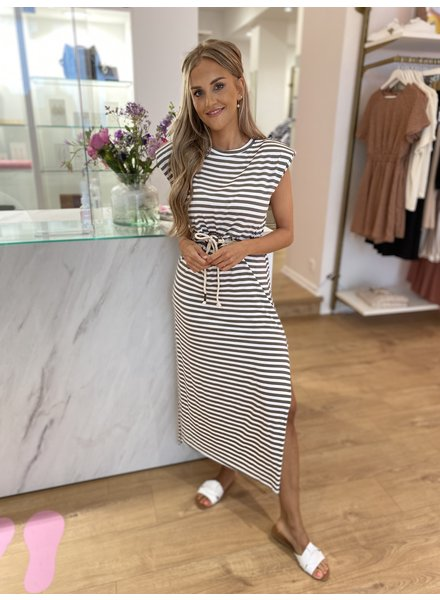 TS Summer Stripes Dress Beige
