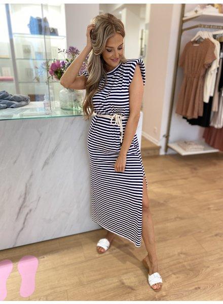 TS Summer Stripes Dress Marine