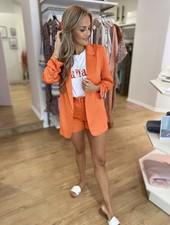 RC Kylie Satin Blazer Orange