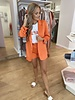 RC Kylie Satin Blazer Orange