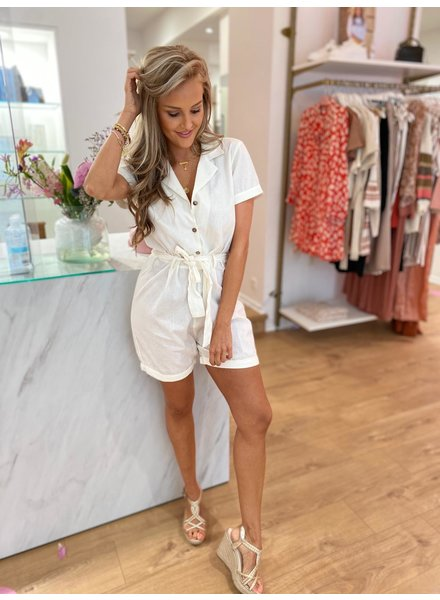 RC Andra Playsuit Off White