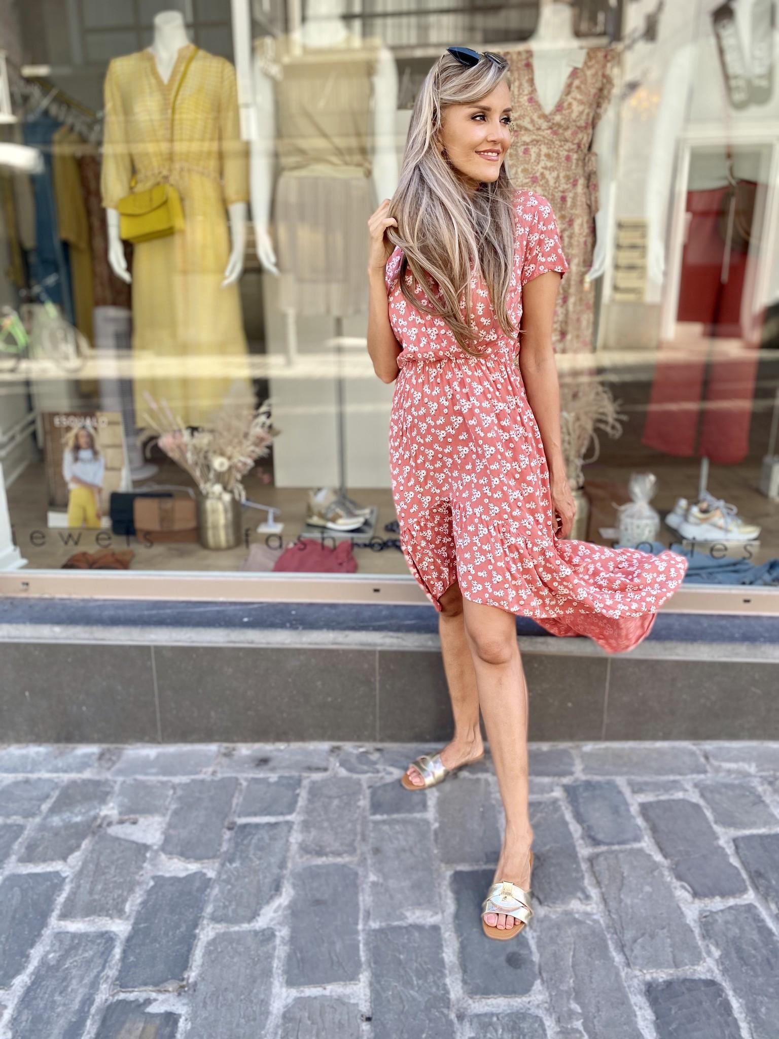 TS Romantic Flowery Viscose Dress