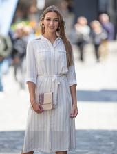 FB Virginie Chemisier Dress Off-White