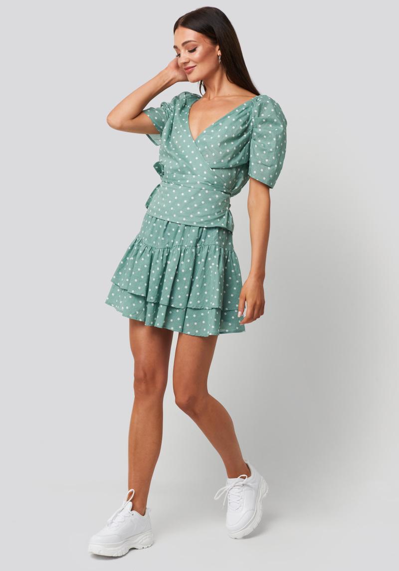 RC Lina Skirt Dots Green