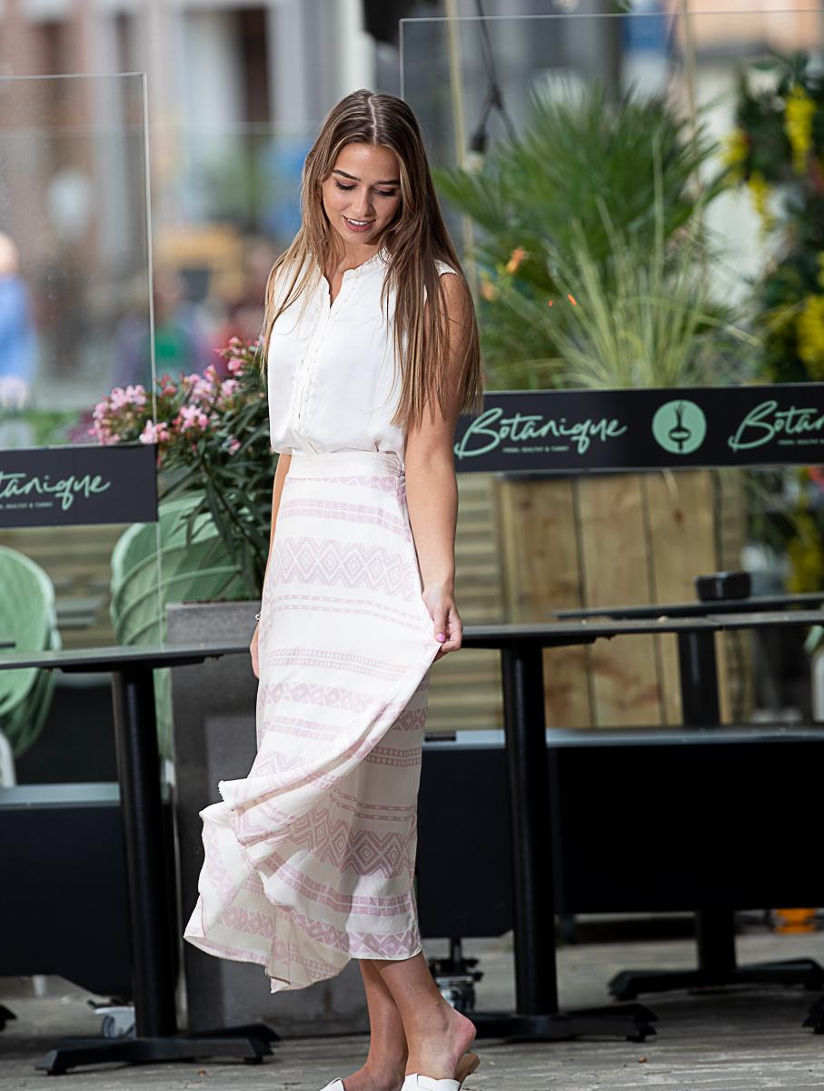 TS Ibiza Satin Skirt Pink