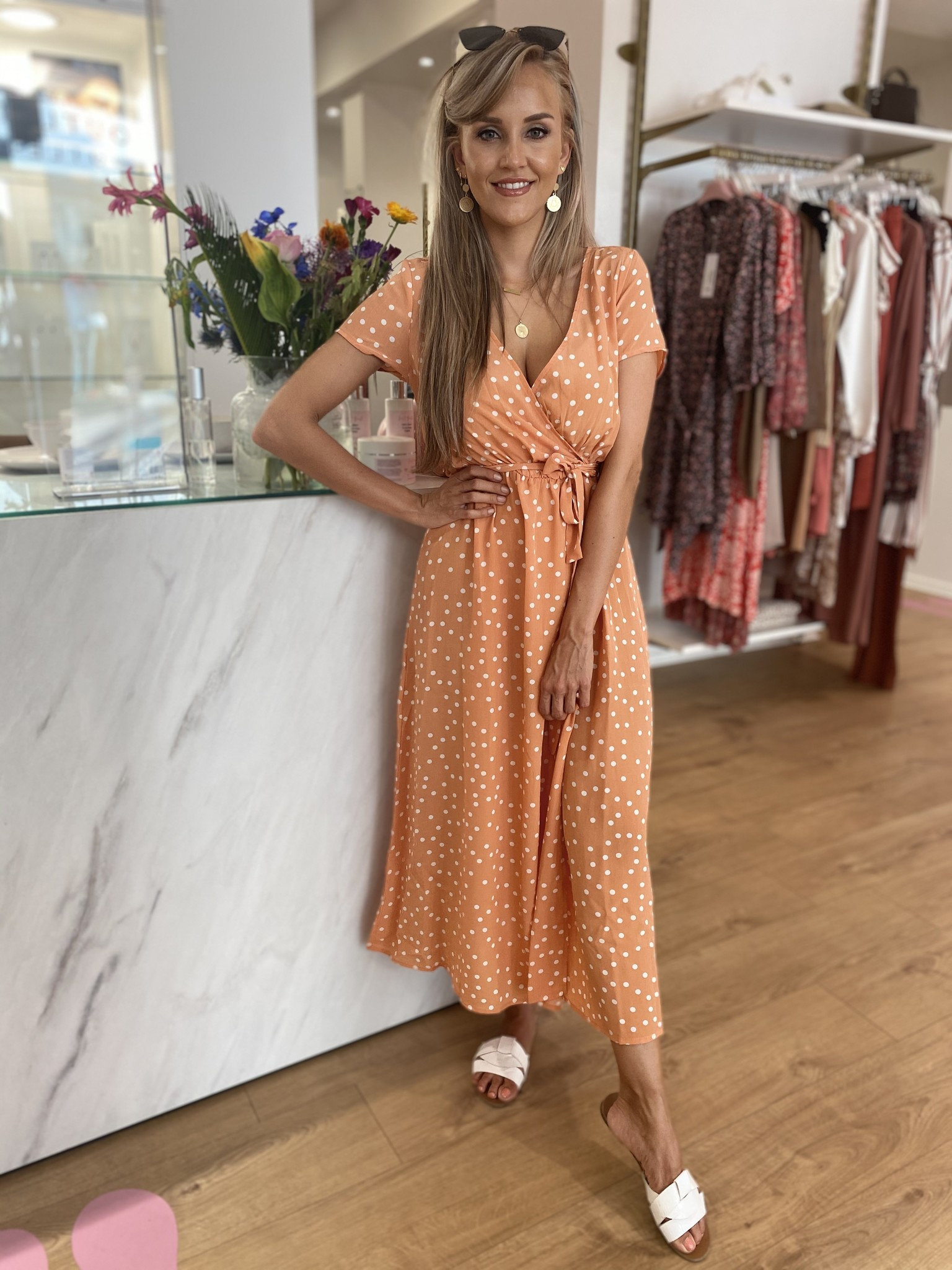 RC Eva Dress Orange Dots