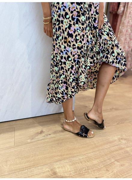 PB Fashion Croco Black Slippers