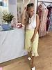 FB Aline Skirt Yellow Dots