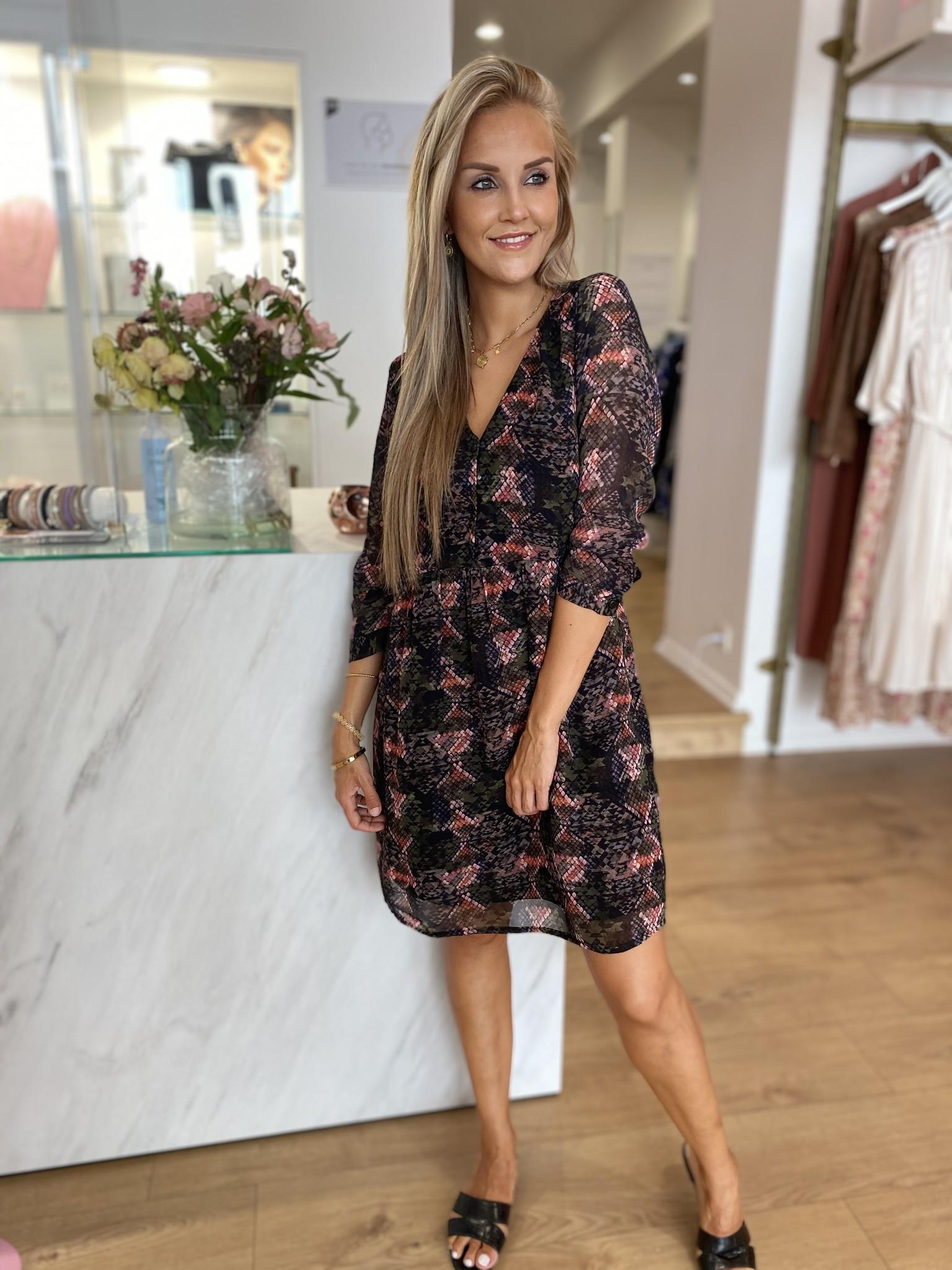 PE Anne Dress Imprime Python