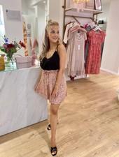 Esqualo Rose Leopard Skirt