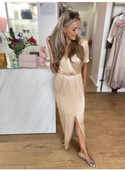 FB Nelly Abricot Satin Dress