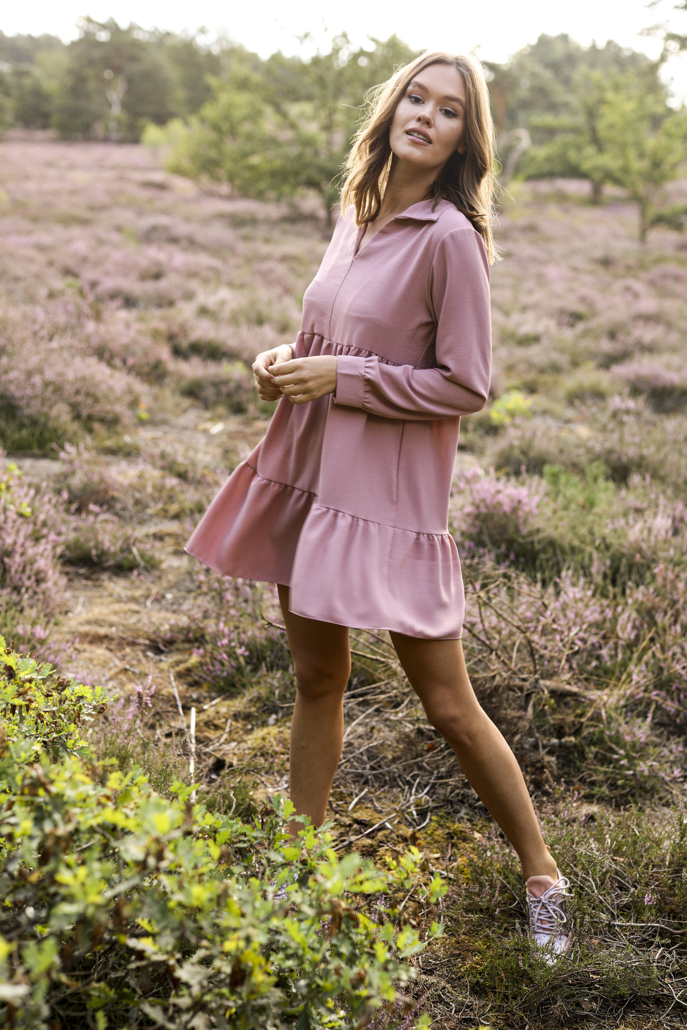 LM Moana Dress Berry Pink