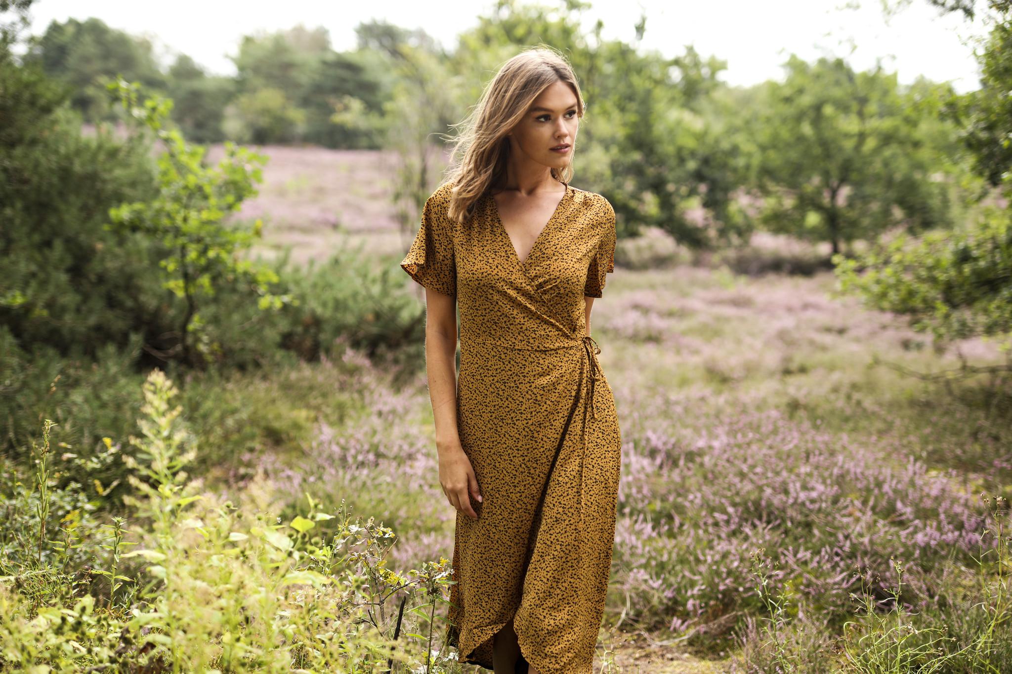 LM Dress Estelle Yellow Spots