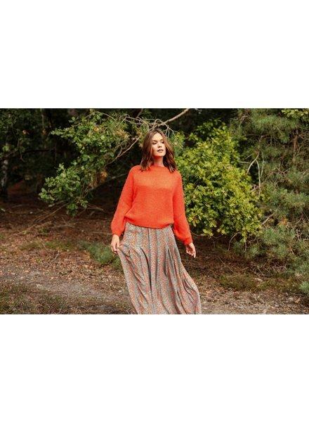 BR Selien Skirt Orange/Blue