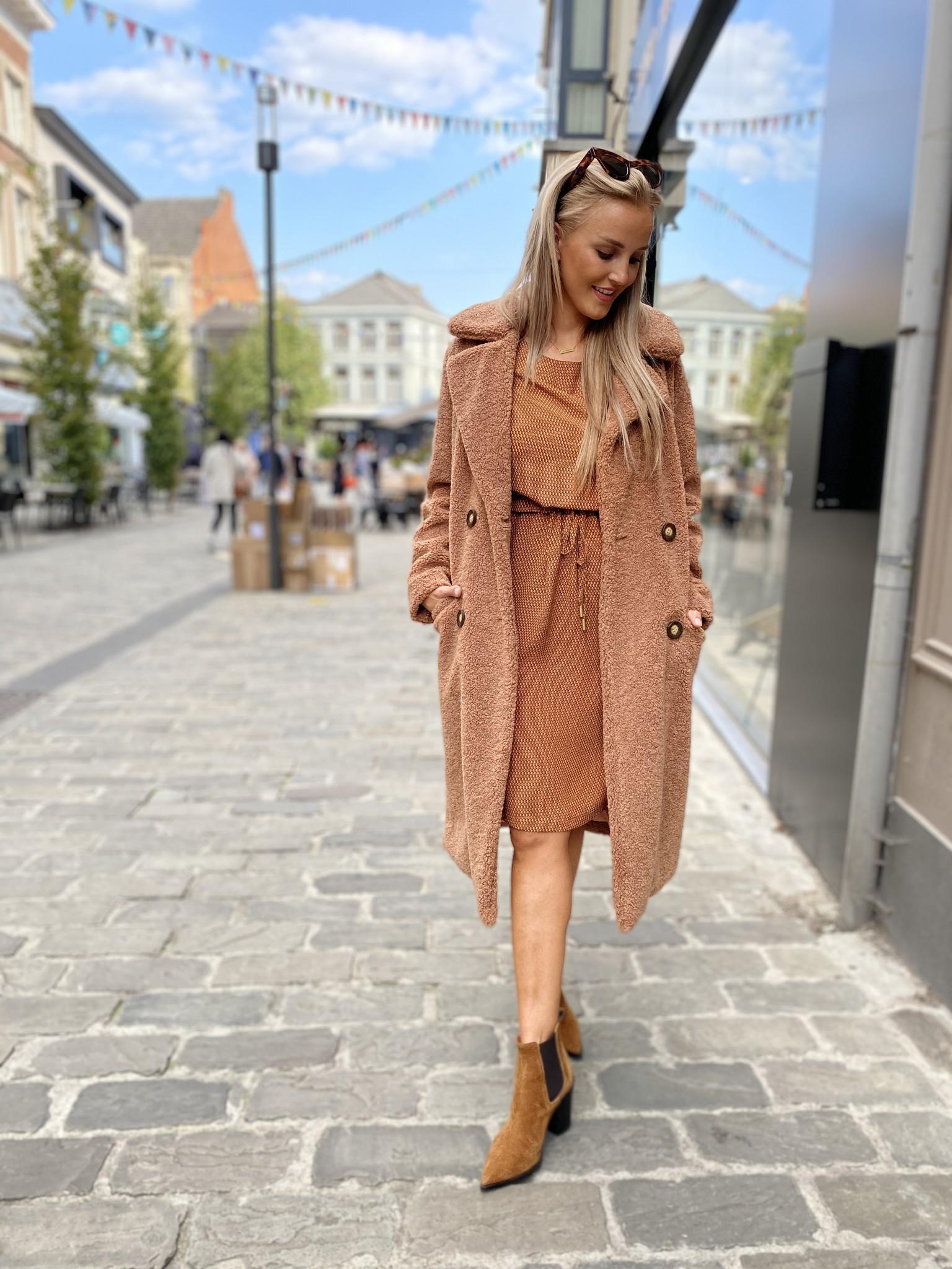 ES Long Coat Bouclé Cinnamon
