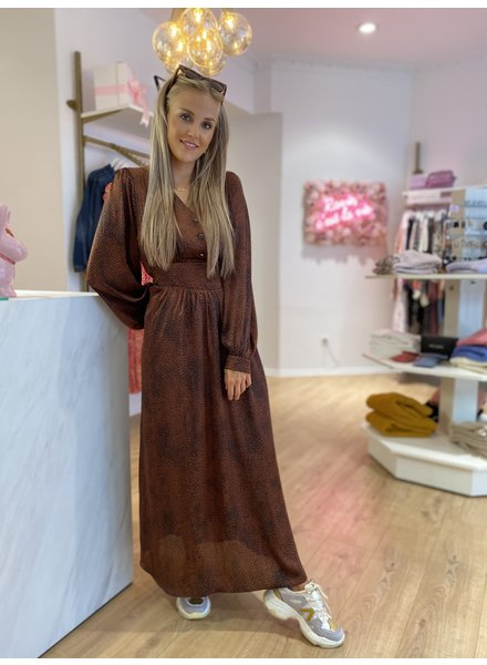 PE Marron Dress Long