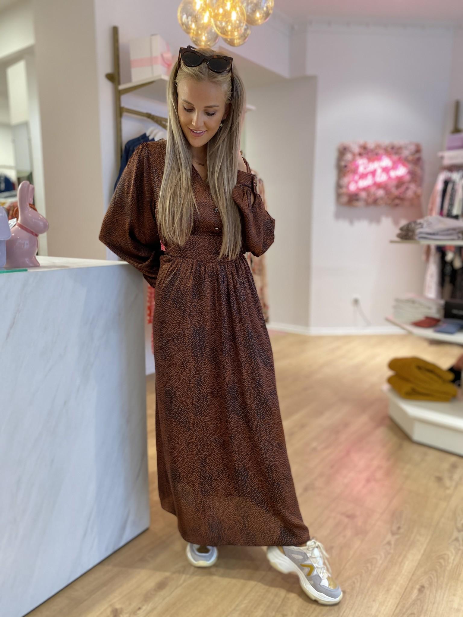 PE Marron Dress Long