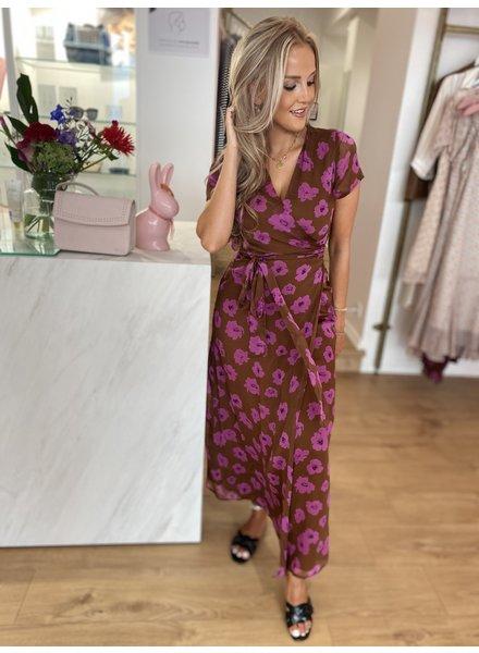 PE Dina Dress Marron Imprime