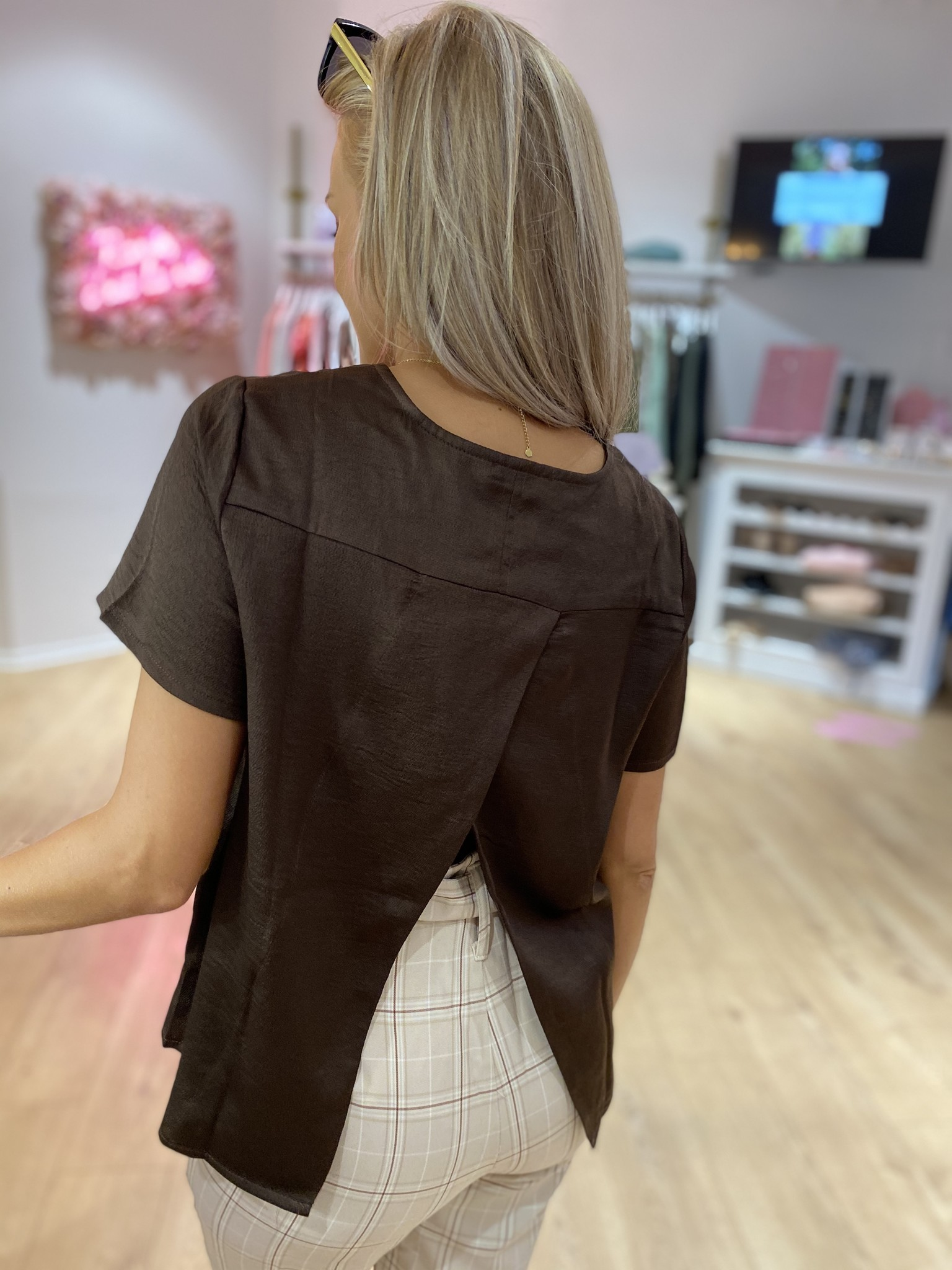 RC Mila Back Open Top Brown