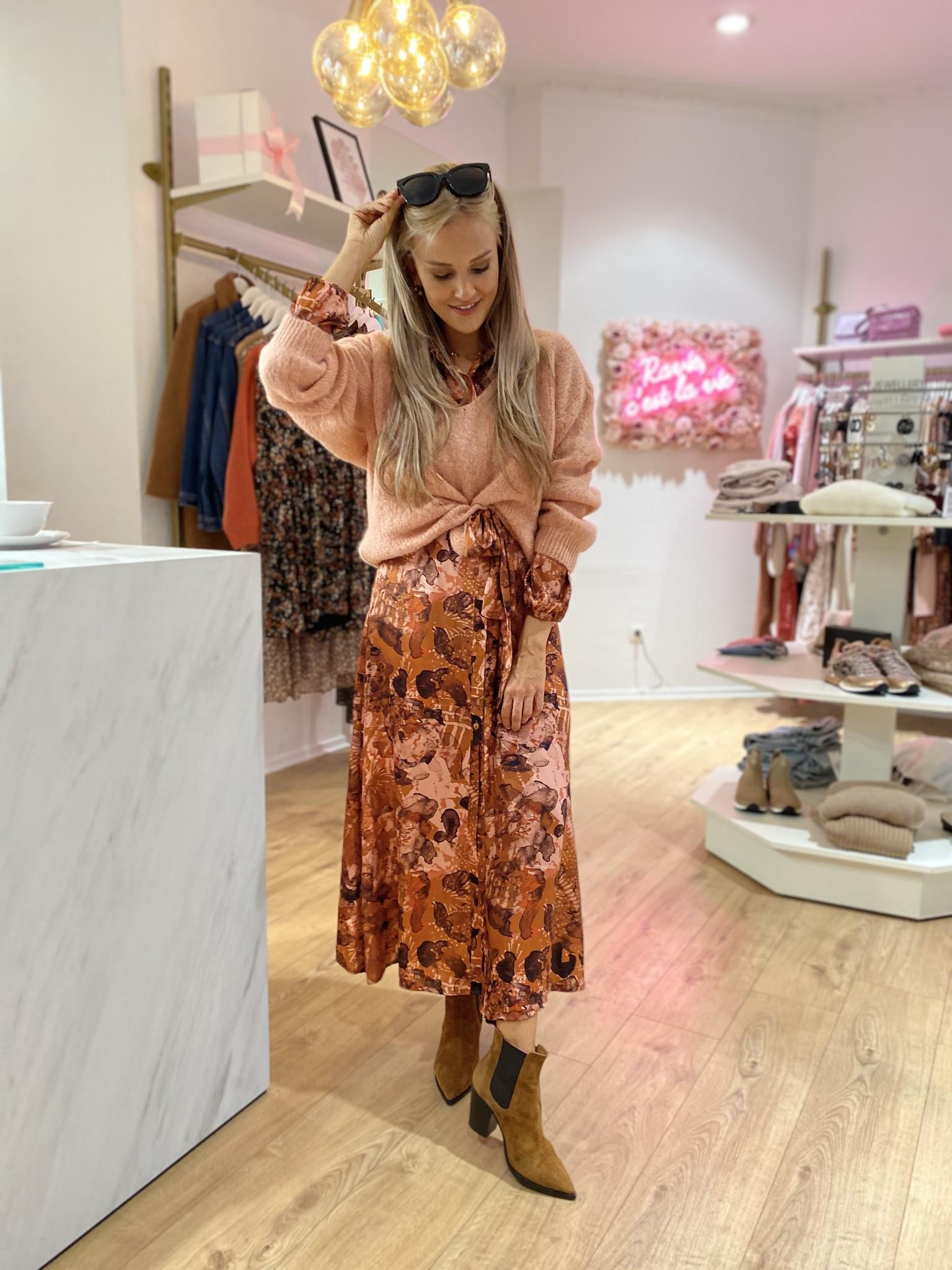 AA Kathy Chemisier Dress Old Pink/Brick