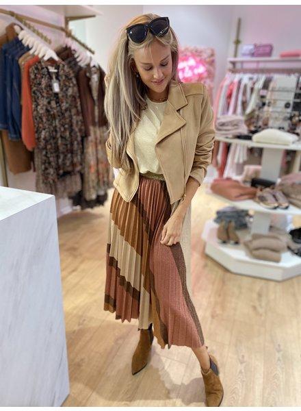 TS Plissé Lurex Skirt