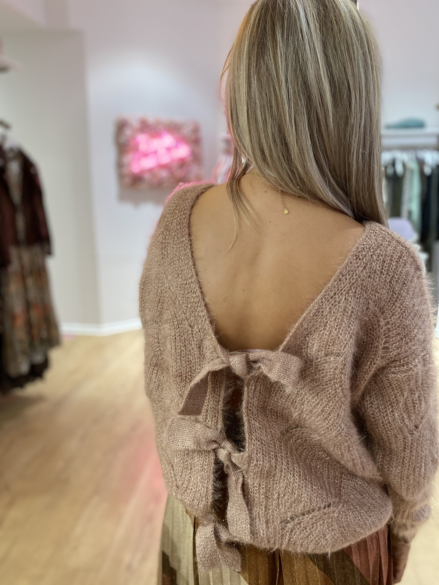 AT Jelle Knit Bows /Lurex