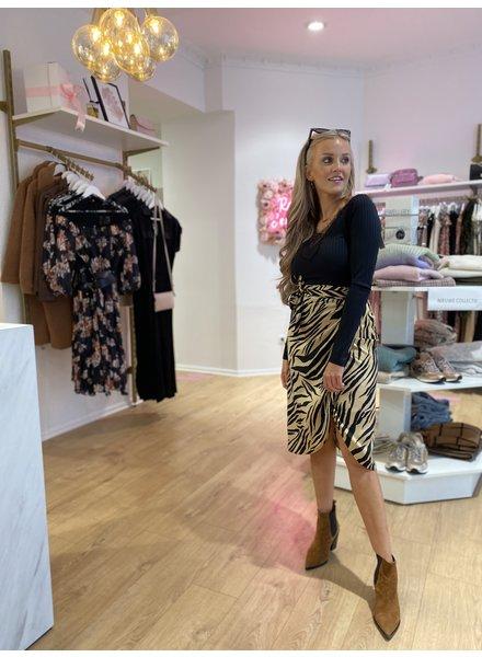 RC Zebra Wrap Skirt