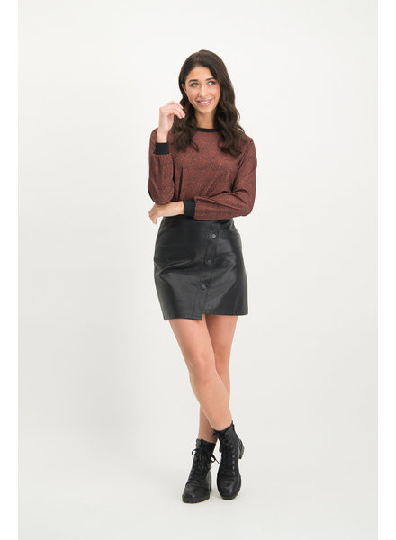 LM Valery Skirt Faux Leather Black