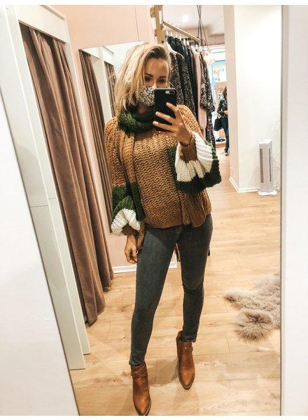 SE Julie Camel/Kakhi Knit + Scarf