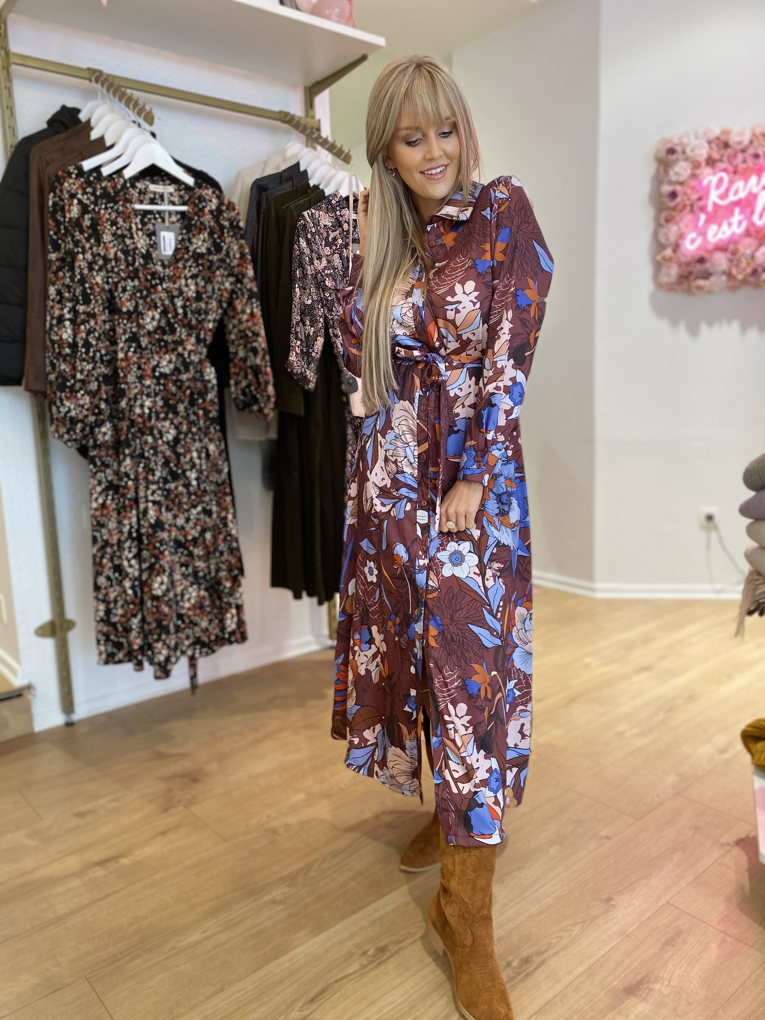 AA Flo Dress Brown