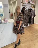 ML Victoria Black Floral Dress