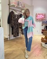 SE Julie Knit Blue/White/Pink